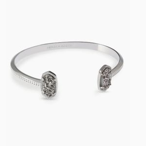 Kendra Scott elton silver cuff bracelet platinum